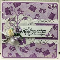 Konfirmasjonskort jente Nest, Craft Ideas, Scrapbook, Cards, Inspiration, Nest Box, Biblical Inspiration, Scrapbooks, Map