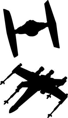 Muurstickers ruimte schepen Star Wars - TenStickers Star Wars Stencil, Star Wars Quilt, Star Wars Art, Spaceship Clipart, Spray Paint Artwork, Star Wars Silhouette, Anniversaire Star Wars, Nave Star Wars, Star Wars Painting