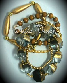 Why wear only 1 bracelet when you can wear 5 for the price of Cool Things To Buy, Stuff To Buy, When You Can, Bangles, Bracelets, Gold, How To Wear, Jewelry, Cool Stuff To Buy