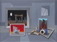 Paysage mystique, 1979 by Francis Bott. Surrealism. symbolic painting