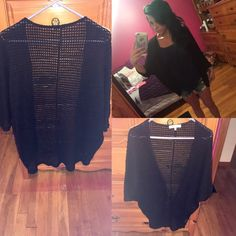 BOGO 5$Black Knit cocoon cardigan! Worn once like new! Exactly as shown in photos brand is rolla coaster size small great for the warmer weather! Forever 21 Sweaters Cardigans
