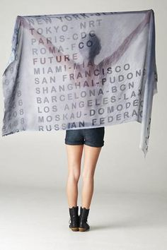 Where are you going? From Hong Kong to London, this Destination Scarf is perfect to inspire your next adventure.