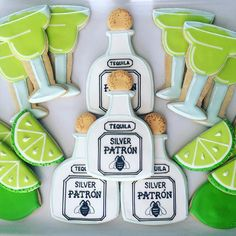 patron tequila margarita cookies // ohsugarevents
