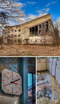 Off The Deep End: 12 Abandoned Swimming Pools; The irradiated ghost town of Pripyat is chock full of abandonments for one simple reason: the 1986 Chernobyl disaster destroyed the town without harming any of its structures. The fate of its people are another story altogether. Swimming Pool Building 1, highlighted here, is the largest of Pripyat's public indoor pools
