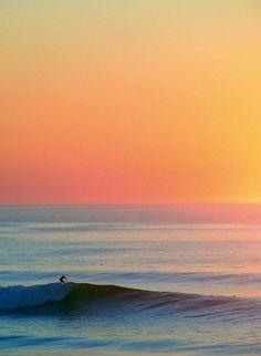 Sunset on the ocean....