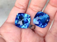 one pairs swiss blue topaz drilled top by vlvp on Etsy, $45.99