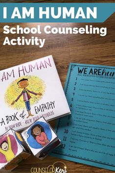 Looking for a great classroom community building or empathy activity for your classroom guidance lessons? You'll love this I am Human activity! School Counselor Lessons, Elementary School Counseling, School Social Work, Elementary Schools, Kindness Activities, Counseling Activities, Book Activities, Leadership Activities, Group Counseling