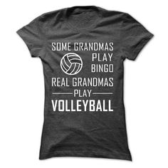 Real GRANDMAs Play Volleyball T-Shirts, Hoodies. ADD TO CART ==► https://www.sunfrog.com/Sports/Real-GRANDMAs-Play-Volleyball.html?id=41382