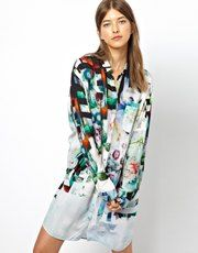 Paul by Paul Smith Shirt Dress in Underwater Floral Print