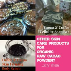 Organic Raw Cacao Skin Care Products