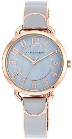 Anne Klein Ladies Rose Gold-Tone and Gray Watch at Lord & Taylor.