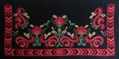 Folk Embroidery, Embroidery Designs, Norway, Folk Art, Costumes, Birth, Country, Popular Art, Dress Up Clothes