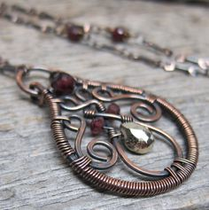 Garden of the Hesperides necklace ... wire by ElementsArtifacts