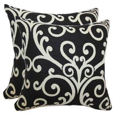 Carnegie Pillow in Black (Set of 2) at Joss & Main