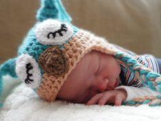 Baby Owl Hat Crochet Photo Prop Boy Infant Newborn. $23.00, via Etsy.