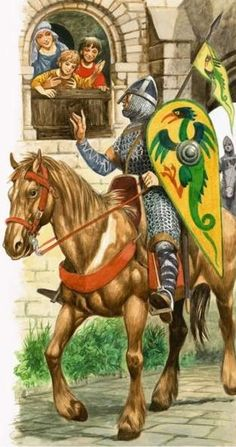 Growing Up in Norman England: Off to Serve the King by Peter Jackson Medieval World, Medieval Knight, Medieval Armor, Medieval Fantasy, Larp, Norman Knight, High Middle Ages, Knight Armor, Knights Templar