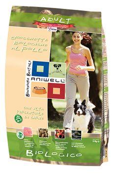 Crocchette Biologiche Pollo Cane Adulto - Aniwell. Gustose crocchette al Pollo Biologico, con mais, frumento, piselli e orzo ideali per cani in età adulta.