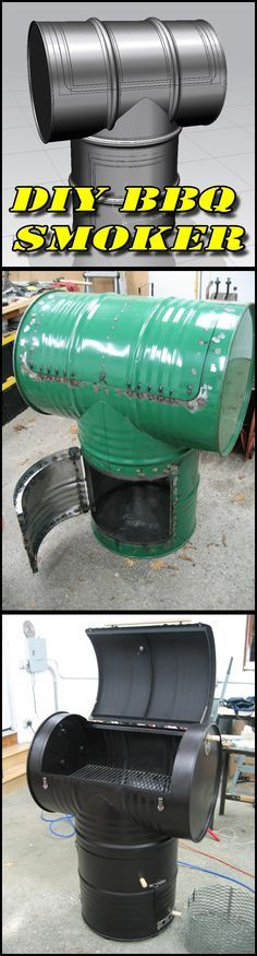 DIY: Make your own BBQ Smoker out of 2 55gal drums (with full instructions and photos)