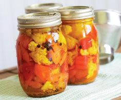 Pickled Cauliflower with Carrots & Red Bell Pepper - Recipe - FineCooking