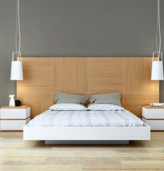 Hoofdeind slaapkamer lampen
