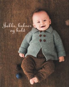 Billedresultat for babystrik Knitting Books, Crochet Books, Baby Knitting, Knit Crochet, Crochet Hats, Vintage Baby Clothes, Baby Sweaters, Future Baby, Tweed