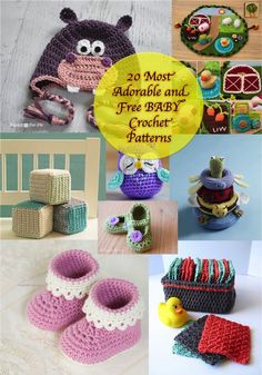 This collection of adorable baby crochet patterns provides you with a wide variety of crochet patterns all around what I baby or its mom might need or use.