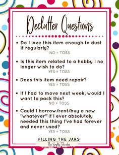 When you change your mindset about decluttering, letting go of all that STUFF is so much easier! You'll be surprised at what you can let go when you honestly answer these questions as you declutter. Read more and get your printable list here. House Cleaning Tips, Spring Cleaning, Cleaning Hacks, Cleaning Checklist, Declutter Home, Declutter Your Life, Declutter Bedroom, Planners, Clutter Control