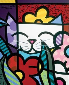 Britto cat                                                                                                                                                                                 Mais