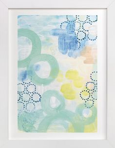 Graphic Bubbles no.1 by Alethea and Ruth at minted.com