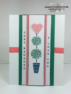 Vertical Greetings Because I Love You 1 - Stamps-N-Lingers