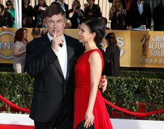 Cute couple alert! Hilaria Thomas can't take her eyes off husband Alec Baldwin -- and SAG winner for Best Actor in a comedy series -- on the red carpet.