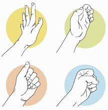 Ergonomics for Knitters - Knitting Daily; good stretches to help prevent or ease pain. Finger stretch instructions plus wrist and forearm table stretches. (from Interweave Crochet article by Andee Graves)