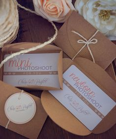 Gift Voucher cards for photographers
