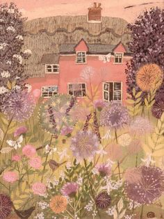 Pink cottage painted