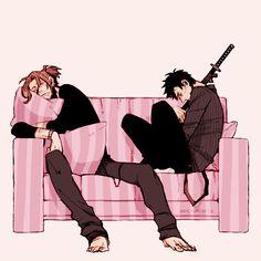 Sleeping Worick and Nicolas
