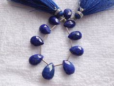 10Psc Natural Lapis Lazuli Faceted Pear Briolette,Natural undyed Beads,Genuine Blue Lapis Lazuli Pear Briolette,Gemstone Handmade Beads by InternationalByBeads on Etsy