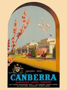 Image result for canberra vintage design