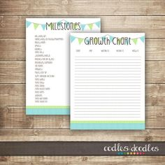 Free Printables: Baby Milestones & Growth Chart  Printable Templates / OandD