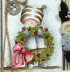 Het kaartenhoekje van Gretha Black Christmas, Christmas Cards, Christmas Ornaments, Mo Manning, Walnut Stain, Penny Black, Weathered Wood, Distress Ink, Homemade Cards
