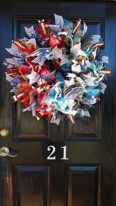 House Divided United Burlap Wreath Carolina by DesignTwentyNineSC