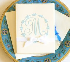 Flourish Monogram Stationery by Anna Griffin. Make It Now with the Cricut Explore machine in Cricut Design Space.