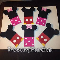 Mickey Mouse goodie bags, Minnie Mouse candy treat bags. Mickey 8bags & Minnie Mouse 8 bags party Favors by Decor4Parties