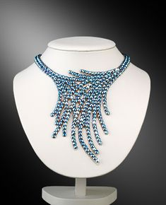 Zdenka Arko Sapphire AB Crystallized Necklace NC11001-03 - Rhinestone Jewelry | Dancesport Fashion @ DanceShopper.com