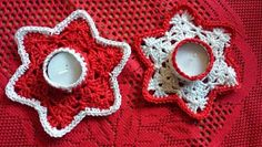 Lindevrouwsweb: Waxinelichthouder Haakpatroon Tea Candles, Christmas Crochet Patterns, Christen, Crochet Doilies, Christmas Crafts, Christmas Ideas, Crochet Earrings, Diy Crafts, Holiday Decor