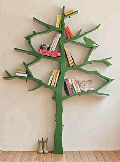 kids, kids room, nursery, tree, tree bookcase, cook case, books, play room, book shelf