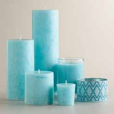 Mediterranean Sea Candles #worldmarketmakeover #spruceupyourspace @Carla Costephens Plus World Market