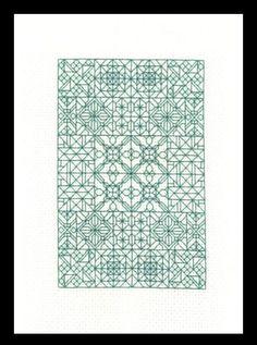 Blackwork Fantasy - free cross stitch pattern