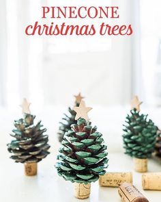 These pinecone Christmas trees are the perfect craft to do with the family this weekend! Click the following link for detailed instructions and photos (courtesy of Lauren J. Photography): http://ow.ly/de0m306USVl