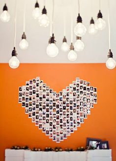 This is a perfect idea for a party (graduation, wedding reception, birthday, anniversary)- guests have Polaroids taken throughout the years, months, weeks, days leading up to the event, and they are assembled on the wall next to the memory table/guestbook area, so guests can revel in the shared memories.