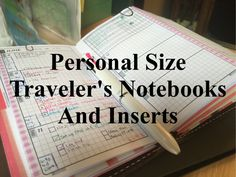 Personal Size Traveler's Notebooks and Inserts